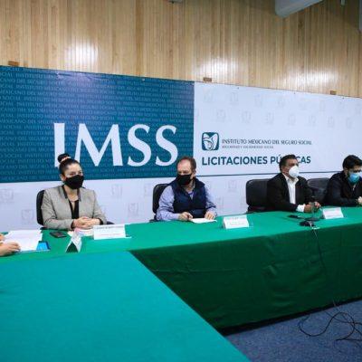 Abre IMSS procedimientos de licitación en vivo para fortalecer la transparencia