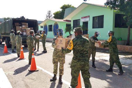 Llegan más abastecimientos para hospitales Covid-19 de Sedena en Yucatán