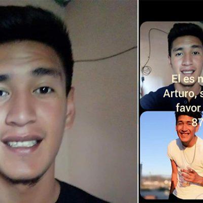 Piden ayuda para localizar a Arturo Gaona, joven de Zacatecas extraviado en Mérida