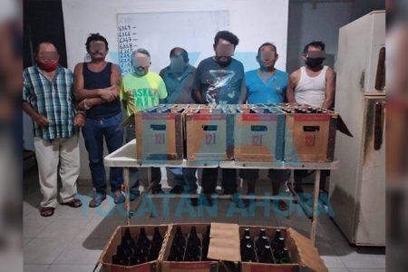 Siete detenidos por compra-venta-clandestina de alcohol