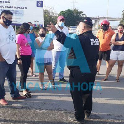 Vecinos liberan avenida principal de Ciudad Caucel, esperan pronta respuesta de CFE