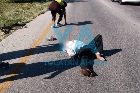 Atropellan a ciclista ebrio que cruzó sin precaución el Periférico