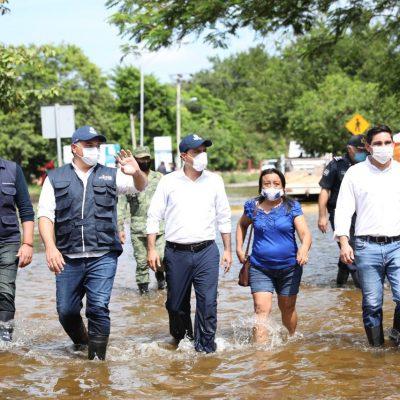 Mauricio Vila y Renán Barrera unen esfuerzos para apoyar a damnificados del huracán Delta en Mérida