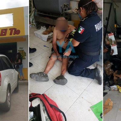 Camioneta se mete a una tortillería en Juan B. Sosa: dos lesionados, uno grave