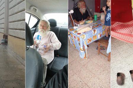 Joven rescata a persona sin hogar durante el huracán Zeta
