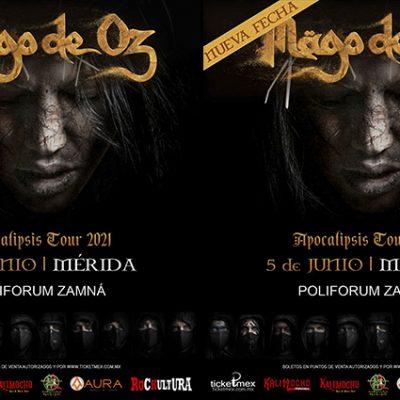 Mägo de Oz regresa a Mérida en junio de 2021 con su  'Apocalipsis Tour'