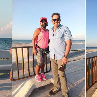 El actor Omar Fierro, de visita en Progreso