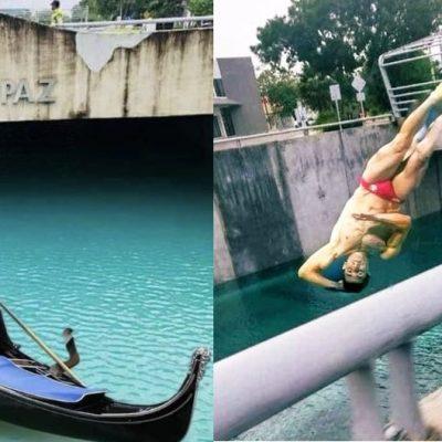 Humor yucateco: de Rommel Pacheco a Mazinger Z, en el inundado paso deprimido