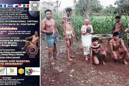 Crean el primer Torneo Internacional Virtual del Juego de Pelota Maya, el Pok Ta Pok