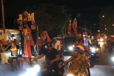 Procesión anual de la Santa Muerte, este sábado pero en caravana de vehículos