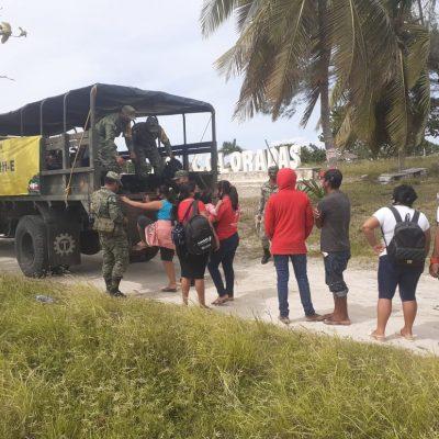 Ejército participa en la evacuación de personas con motivo del huracán Delta
