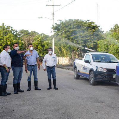 Renán Barrera encabeza en Caucel nuevas acciones a favor de comunidades inundadas