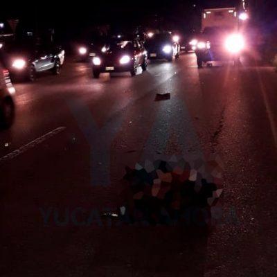 Tragedia en el Periférico de Mérida: muere atropellado un transeúnte