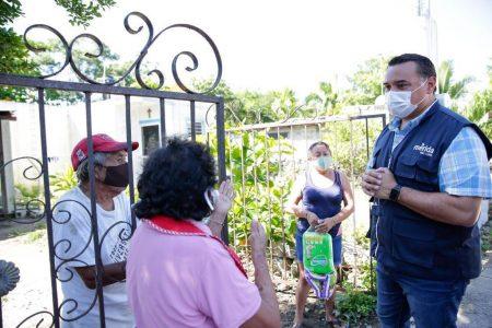 Renán Barrera extiende apoyos a las comisarías más afectadas por inundaciones