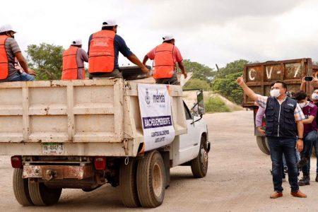 Intenso operativo para reparar lo que Delta y Gamma deslavaron en Mérida