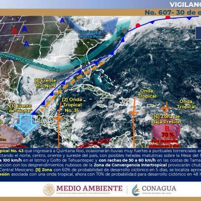 Pronostica Conagua Día de Muertos con lluvias fuertes en Yucatán