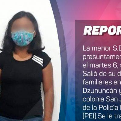 Localizan sana y salva a jovencita que desapareció en el sur de Mérida