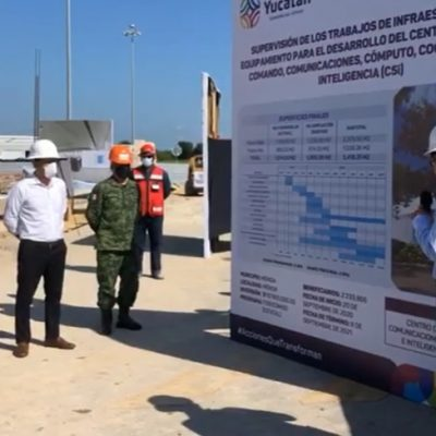 Construyen en Yucatán moderno edificio para monitoreo en seguridad pública