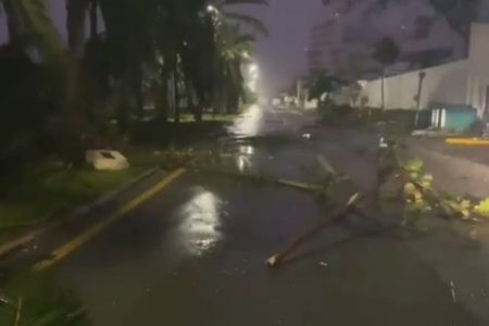 Saldo blanco y daños leves por impacto del huracán Delta en Quintana Roo