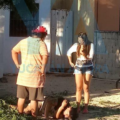 Cae y se lesiona la columna vertebral cortando ramas de un árbol en Ciudad Caucel