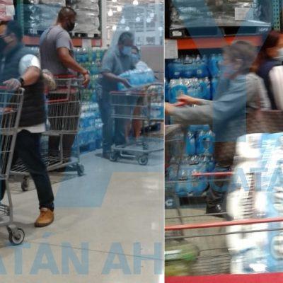 Meridanos se vuelcan a comercios para abastecerse previo al huracán Delta