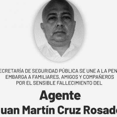Fallece agente de la Policía Estatal de Investigación