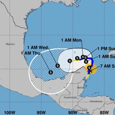 Gamma se fortalece al aproximarse a la Península de Yucatán