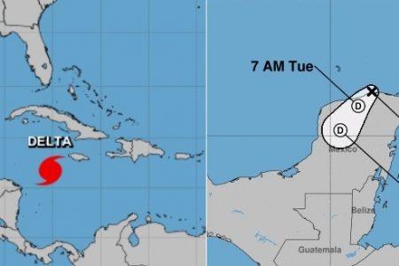 Gamma se disipa y Delta se fortalece más: condiciones huracanadas desde mañana por la noche