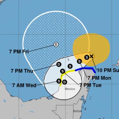 La confundida Gamma se aleja de Yucatán, pero vuelve a partir de mañana