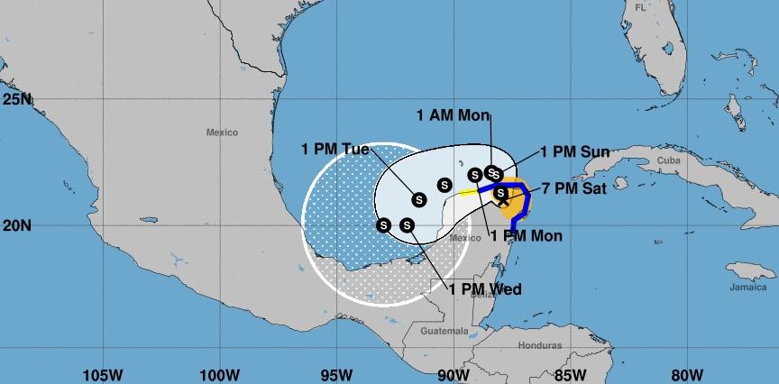 Gamma avanza sobre tierra en Yucatán: está buscando una salida al mar