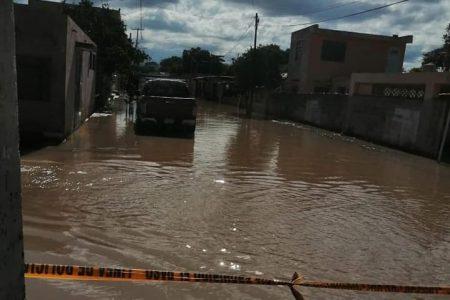 Reparto Granjas bajo el agua… y no fue Delta sino error del ayuntamiento de Kanasín