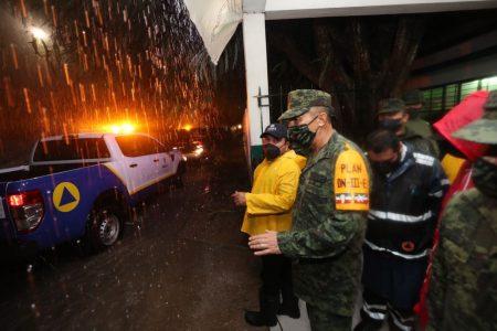 Lluvias fuertes e incidentes menores por la tormenta tropical Gamma en Yucatán