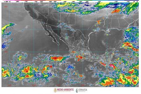 Tormentas y lluvias fuertes en la Península de Yucatán por onda tropical y baja presión