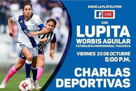 La charla con el IDEY será un tiro a gol con la futbolista yucateca Lupita Worbis