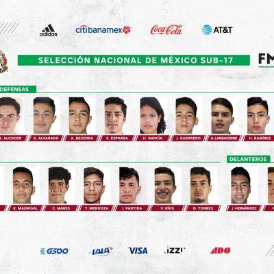 El juvenil yucateco Patricio Salas es convocado a la selección mexicana Sub-17