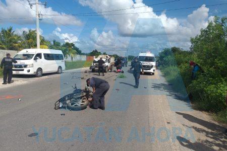 Trágico choque de joven motociclista