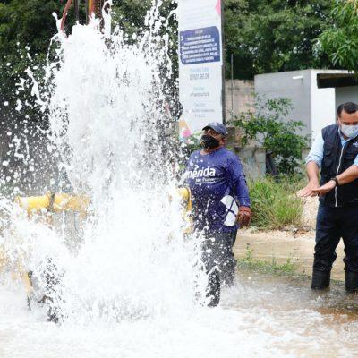 El huracán Delta deja bajo el agua comisarías del norte de Mérida