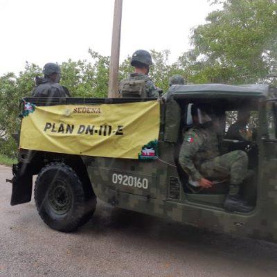 Por Gamma, interviene el Ejército en Valladolid, Tizimín, Panabá y Chemax