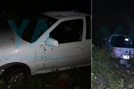 Abandonan una camioneta accidentada en la Mérida-Timucuy