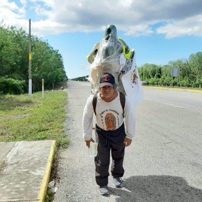 El Covid-19 no detendrá al 'caminante guadalupano', recorrerá Yucatán en bicicleta