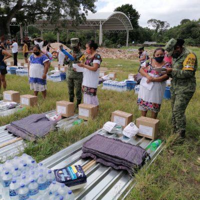 El Ejército Mexicano continúa entregando apoyos a familias yucatecas