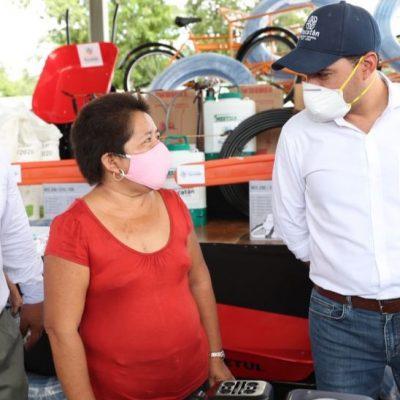 Apoyo del Gobierno de Yucatán sigue llegando a los productores del campo