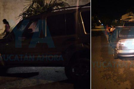 Conductor ebrio choca contra un Jeep en Ciudad Caucel