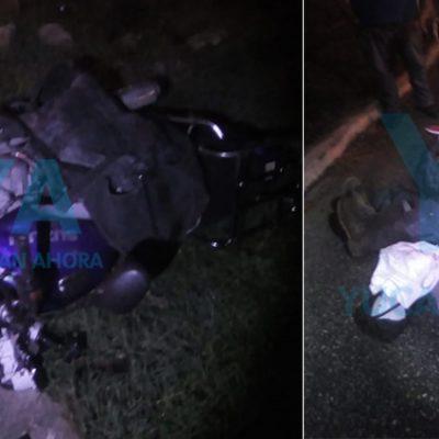 Por exceso de velocidad, motociclista derrapa y se disloca el hombro