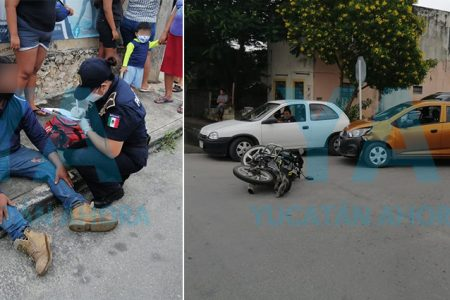 Ignora el alto y atropella a joven motociclista