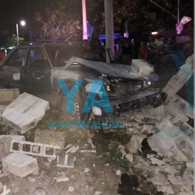 Joven provoca aparatoso accidente por volarse el alto