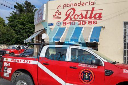 Por un descuido, se incendia panadería de la Vicente Solís