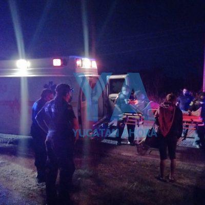 Trágico accidente en la vía Mérida-Umán: fallece la pasajera de una moto
