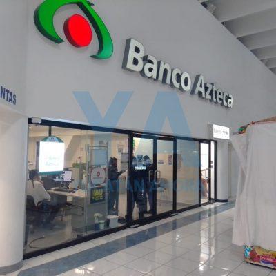 Sorprende la muerte a una clienta en Banco Azteca de Plaza Dorada