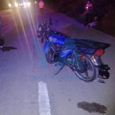 Auto 'fantasma' propicia choque de motos